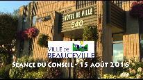 S�ance du Conseil de Ville-15 ao�t 2016