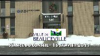 Séance du conseil municipal de Beauceville du 16 janvier 2017