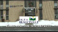 Séance du conseil municipal de Beauceville du 6 février 2017