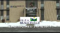 Séance du conseil municipal de Beauceville du 3 avril 2017