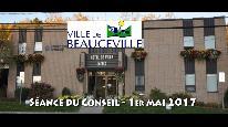 Séance du conseil municipal de Beauceville du 1er mai 2017