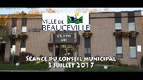 Séance du conseil municipal de Beauceville du 3 juillet 2017