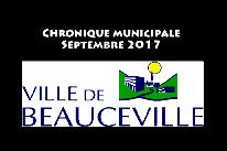 Chronique municipale - Septembre 2017
