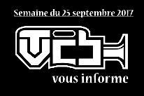 TVCB vous informe - Semaine du 25 septembre 2017