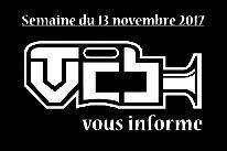 TVCB vous informe - Semaine du 13 novembre 2017
