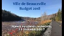 Séance du conseil municipal de Beauceville du 11 décembre 2017 - Budget 2018