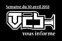 TVCB vous informe - Semaine du 30 avril 2018