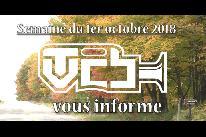 TVCB vous informe - Semaine du 1er octobre 2018