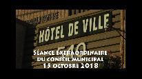Séance extraordinaire du conseil municipal de Beauceville du 15 octobre 2018