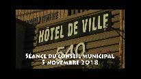 Séance du conseil municipal de Beauceville du 5 novembre 2018