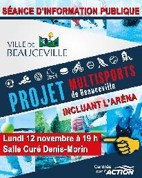 Séance d'information - Projet multisports de Beauceville (12 novembre 2018)
