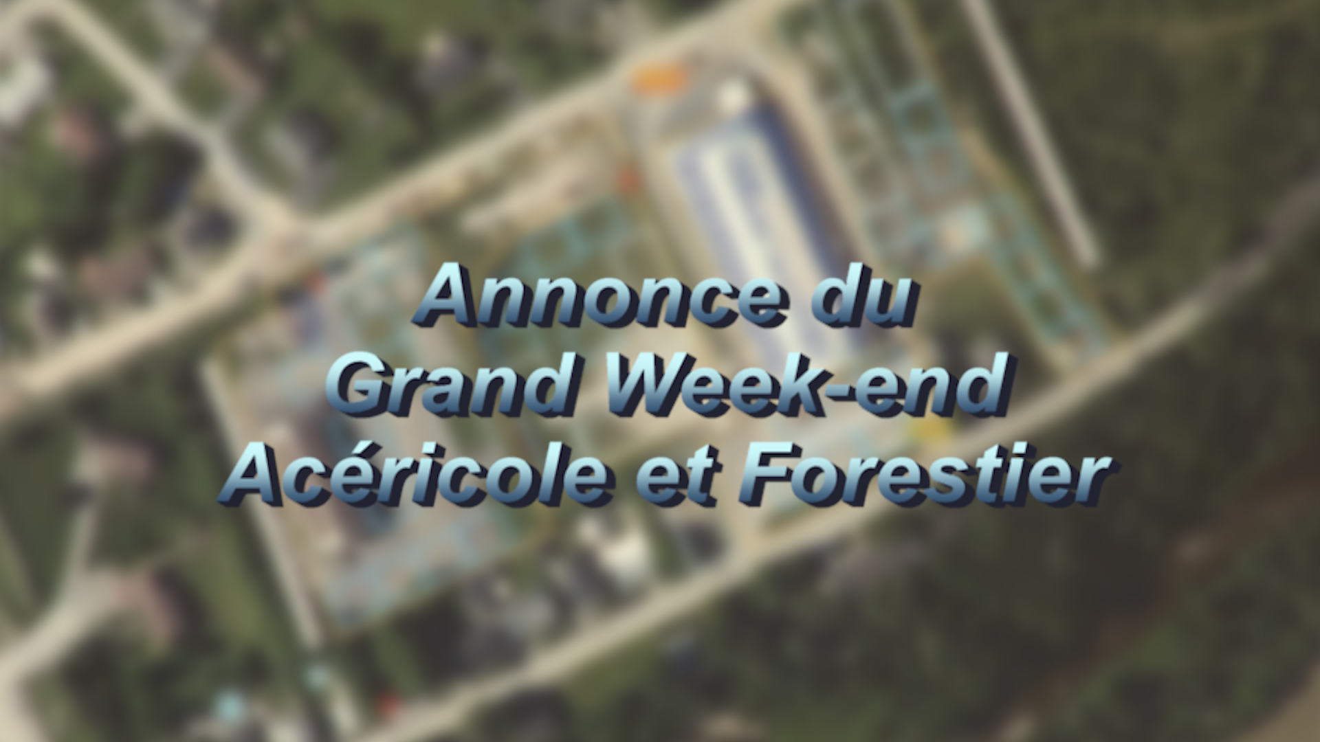Annonce du grand week-en forestier